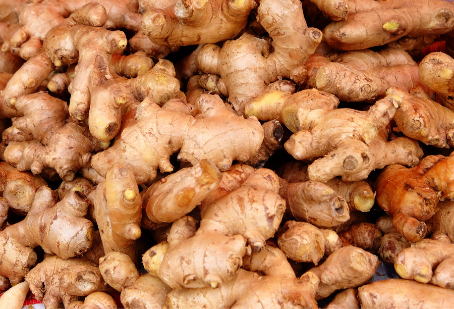 Big heap of ginger root