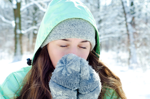 How to stay warm while working outside in the cold; gardening, chopping wood, or homesteading.